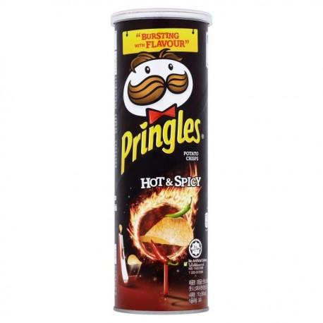 Pringles Potato Crisps Hot & Spicy 107g