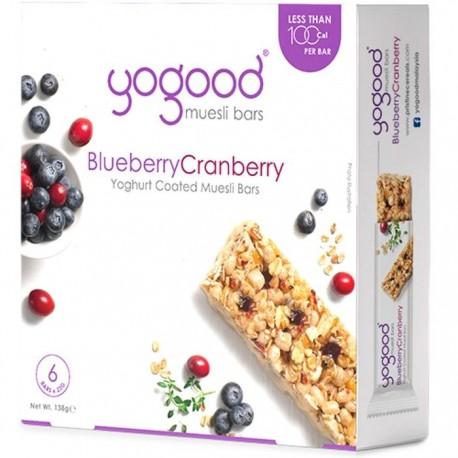 Yogood Muesli Bars 6x23g - BlueberryCranberry