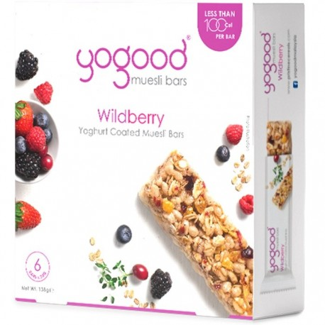 Yogood Muesli Bars 6x23g - Wildberry