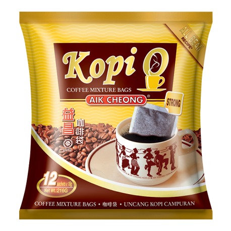 Aik Cheong Kopi-O Coffee Mixture Bags 18gx12s - Strong