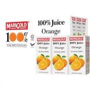 Marigold 100% Juice Drink 200mlx3x8 - Orange