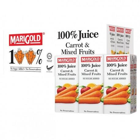 Marigold 100% Juice Drink 200mlx3x8 - Carrot & Mixed Fruits