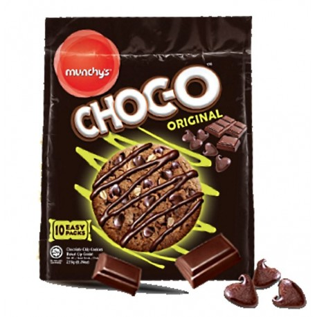 Munchy's Choc-O Original Chocolate Chip Cookies 235g (10easy packs)