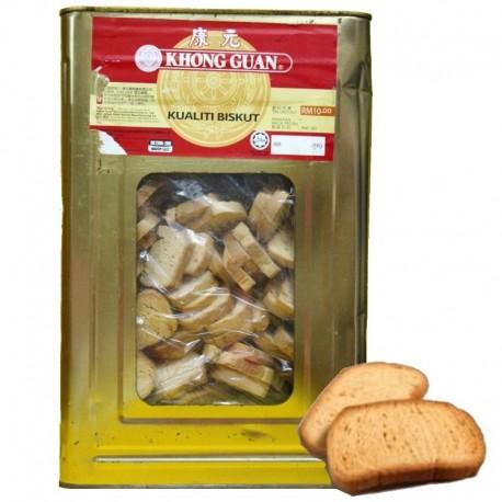 Khong Guan Rusk Biscuits 2.5Kg (Bulk Tin)