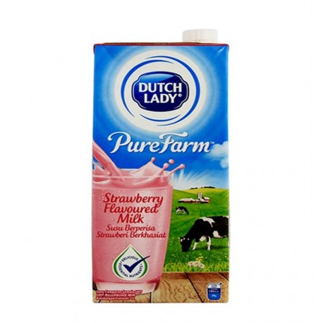 Dutch Lady UHT Strawberry Flavoured Milk 1L