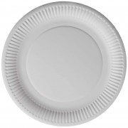 9-inch Plain White Paper Plate - 50's Pack