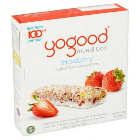 Yogood Muesli Bars 6x23g - Strawberry