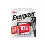 Energizer MAX 1.5V AA Alkaline Battery 4pcs Pack