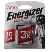 Energizer MAX 1.5V AAA Alkaline Battery 4pcs Pack