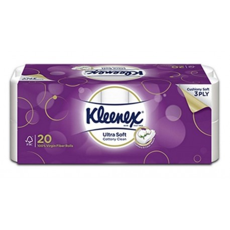 Kleenex Toilet Tissue Ultrasoft 20s