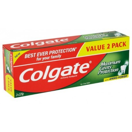 Colgate Anticavity Toothpaste 2x225g - Icy Cool Mint