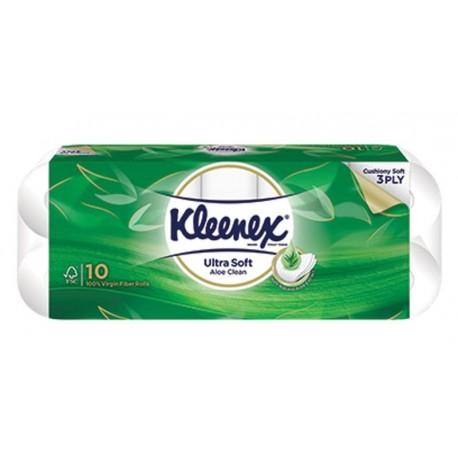 Kleenex Toilet Tissue Ultrasoft 10s - Aloe Vera