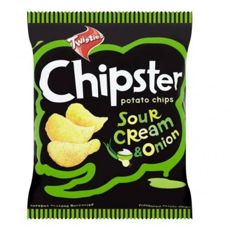 Twisties Chipster Potato Chips 60g - Sour Cream & Onion