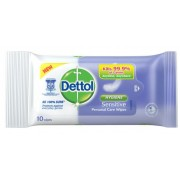 DETTOL Personal Care Wet Wipes 10's - Hygiene Sensitive