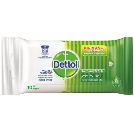 DETTOL Anti-bacterial Wet Wipes 10's