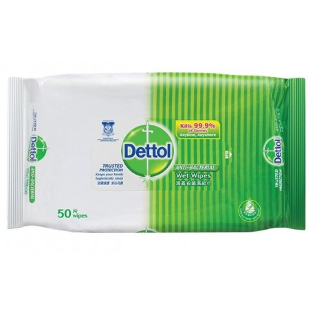 DETTOL Anti-bacterial Wet Wipes 50's