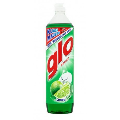 GLO Concentrated Dish Washing Liquid 900ml - Lime