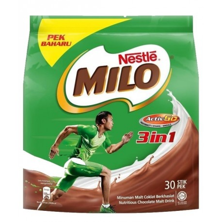 Nestle Milo 3in1 Malt Barli 30x33g Stick Pouch