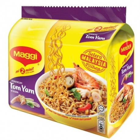 Maggi 2-minute Noodles Tom Yam 5x80g