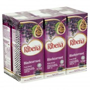 RIBENA Blackcurrant Fruit Drink 200ml x6