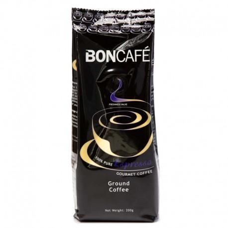 BONCAFE 100% Pure Espresso Gourmet Coffee 200g - Powder