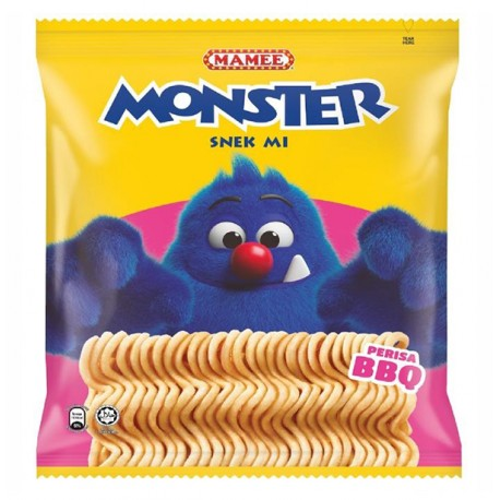 MAMEE Monster Noodle Snack Family Pack 8x25g BBQ