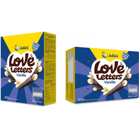 Julie's Love Letter 100g - Vanilla Flavoured