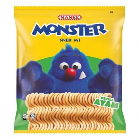 MAMEE Monster Noodle Snack Family Pack 8x25g Chicken