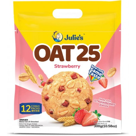 Julie's Oat 25 Biscuits 300g - Strawberry