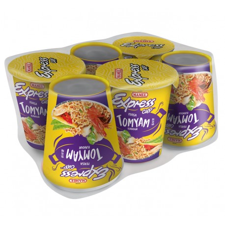 MAMEE Express Cup Instant Noodles 6x60g - TOM YAM