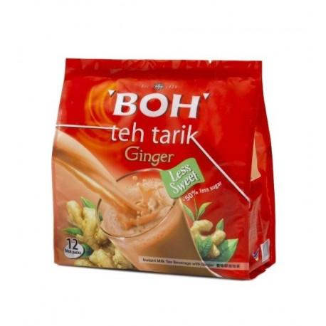 BOH Teh Tarik Kurang Manis Instant Milk Tea Beverage with Ginger-12s