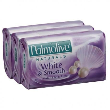 Palmolive Naturals Bar Soap 3 x 80g -White & Smooth