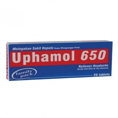 UPHAMOL 650 -20 tablets