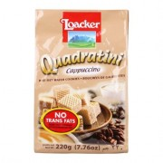 Loacker Quadratini Wafer 220g - Cappuccino
