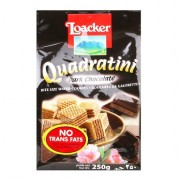 Loacker Quadratini Wafer 250g - Dark Chocolate