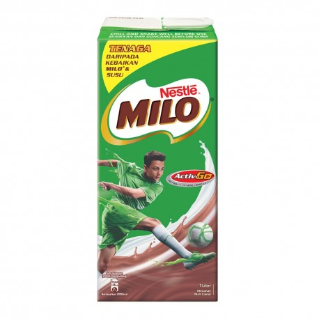 Milo UHT Chocolate Malt Drink 1L Pack
