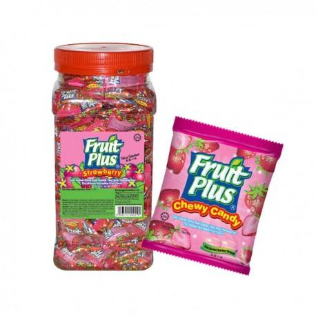 Fruit Plus Chewy Candy - Strawberry 1Kg (JAR)