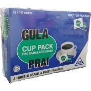 Gula Prai Cup Pack Fine Granulated Sugar 100sachets x5g