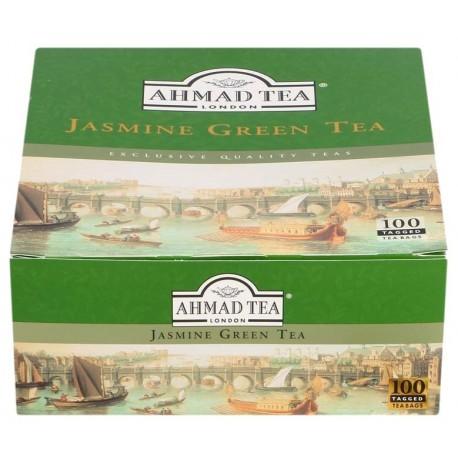 Ahmad Tea Jasmine Green Tea 100's Tagged Teabags