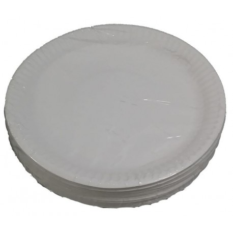 7-inch Plain White Paper Plate -50's Pack
