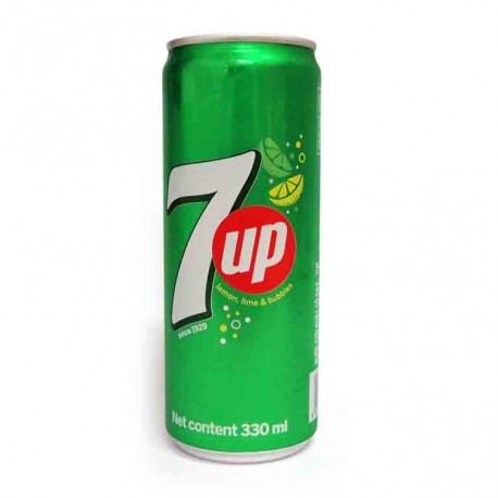 7up Fizzy Lemon Lime Carbonated Drink 330ml x24