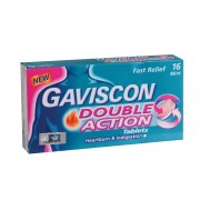 GAVISCON Double Action Tablets 250mg 16's