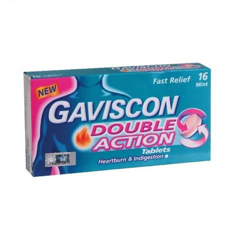 GAVISCON Double Action Tablets 250mg 16's
