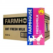 F&N Farmhouse UHT Fresh Milk 1L x12