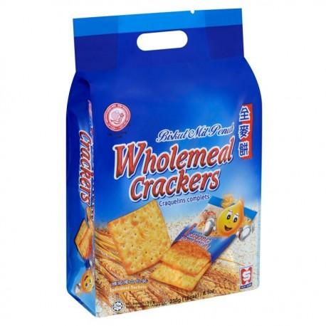 HUP SENG Wholemeal Crackers 230g -10 sachets