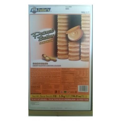 Julie's Peanut Butter Sandwich Biscuits 5.5Kg