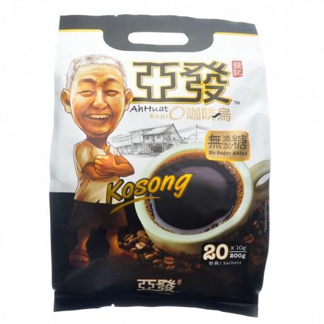 Ah Huat Kopi O Kosong 20 x10g (No Sugar)