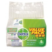 DETTOL Anti-Bacterial Wet Wipes 3x10's