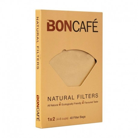 BONCAFE Natural Filters 1x2 (4-6Cups)