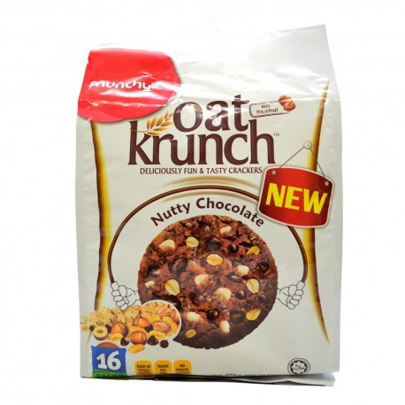 Munchy's Oat Krunch Crackers 16x26g - Nutty Chocolate with Hazelnut